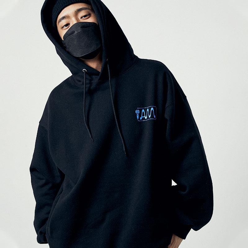 [아메바컬쳐] MIC 오버핏 후디_딥 블랙 썸네일