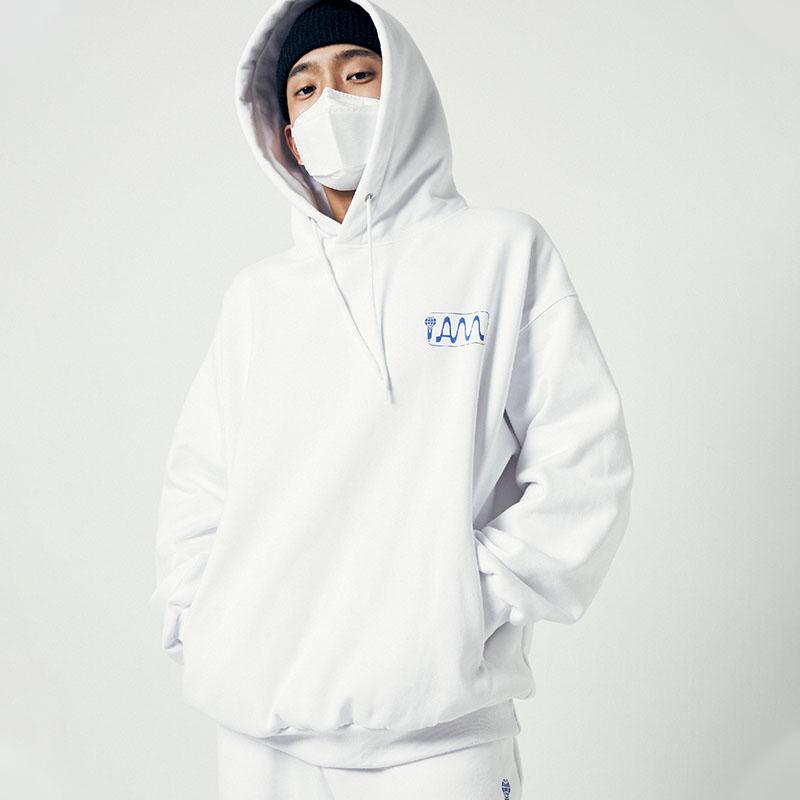 [아메바컬쳐] MIC 오버핏 후디_딥 화이트 썸네일
