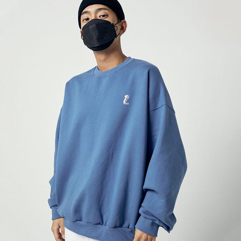 [아메바컬쳐] MIC 오버핏 맨투맨_미스티 블루 썸네일